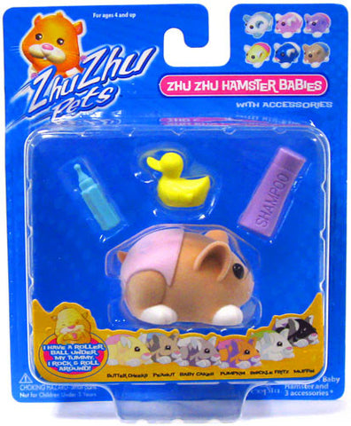 Zhu Zhu Pets Hamster Babies Pumpkin Light Orange Baby with Pink Diaper - Peazz.com