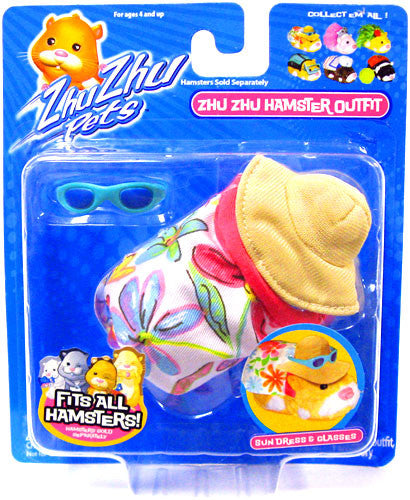 Zhu Zhu Pets Hamster Outfit Sundress With Hat Hamster Not Included!