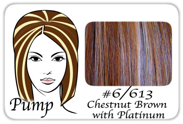 Pro-Extensions PRPP-6613   #6/613 Chestnut Brown w/ Platinum Pro Pump - Tease With Ease