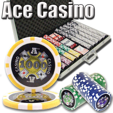 Brybelly PSC-0106 1,000 Ct - Pre-Packaged - Ace Casino 14 Gram - Aluminum - Peazz.com