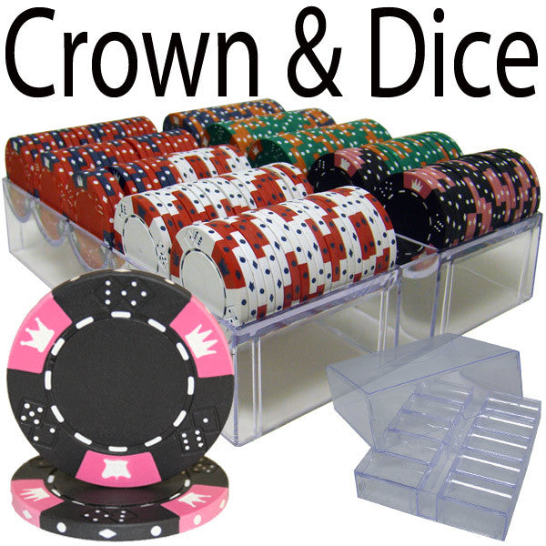 Brybelly PSC-0401A 200 Ct - Pre-Packaged - Crown & Dice - Acrylic Tray