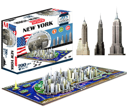 4d Cityscape Tcys-01 4d New York Skyline Time Puzzle