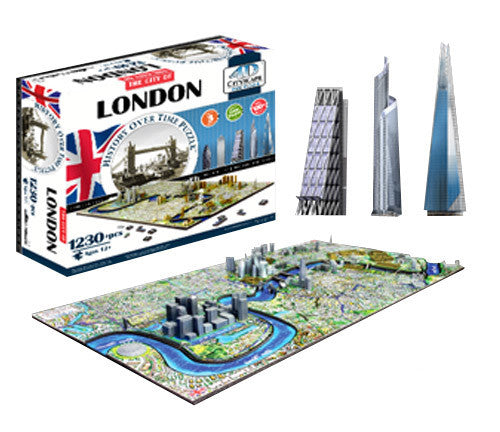 4d Cityscape Tcys-02 4d London Skyline Time Puzzle