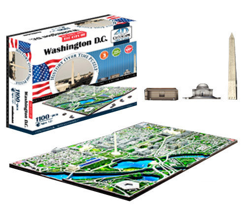 4d Cityscape Tcys-04 4d Washington Dc Skyline Time Puzzle