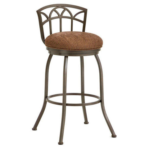 "Iron Mountain 2003626 Fiesole Low Back Counter Stool 26"" Seat Height w/ Radar Nugget Fabric - Rust - BarstoolDirect.com"