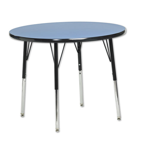 "ECR4Kids ELR-14114-BLBK-SS 36"" Round Table Blue/Black-Standard Swivel - Peazz.com"