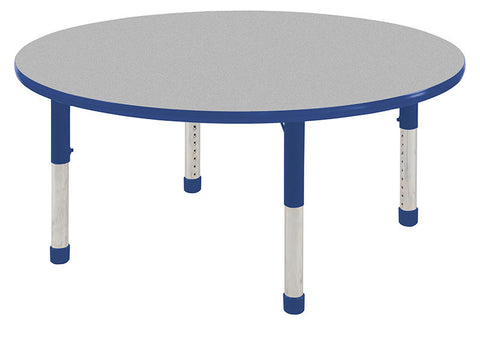 "ECR4Kids ELR-14114-GBL-C 36"" Round Table Grey/Blue-Chunky - Peazz.com"