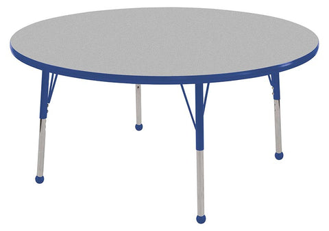 "ECR4Kids ELR-14114-GBL-SB 36"" Round Table Grey/Blue-Standard Ball - Peazz.com"