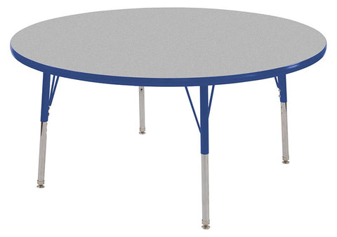"ECR4Kids ELR-14114-GBL-SS 36"" Round Table Grey/Blue-Standard Swivel - Peazz.com"