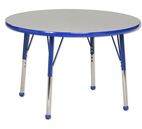 "ECR4Kids ELR-14114-GBL-TB 36"" Round Table Grey/Blue-Toddler Ball - Peazz.com"