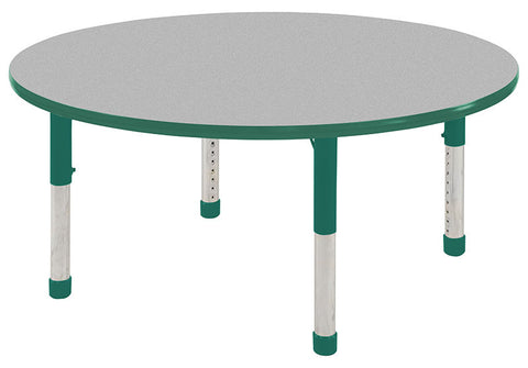 "ECR4Kids ELR-14114-GGN-C 36"" Round Table Grey/Green-Chunky - Peazz.com"