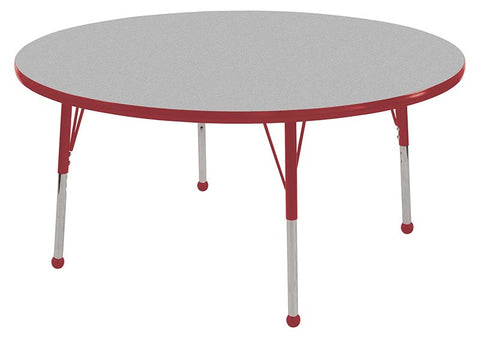 "ECR4Kids ELR-14114-GRD-SB 36"" Round Table Grey/Red-Standard Ball - Peazz.com"