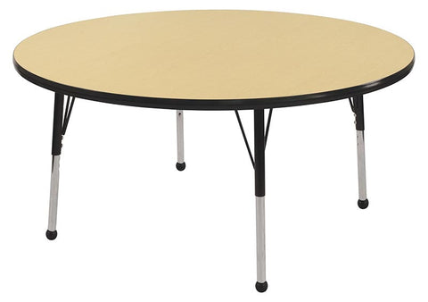 "ECR4Kids ELR-14114-MBBK-SB 36"" Round Table Maple/Black-Standard Ball - Peazz.com"