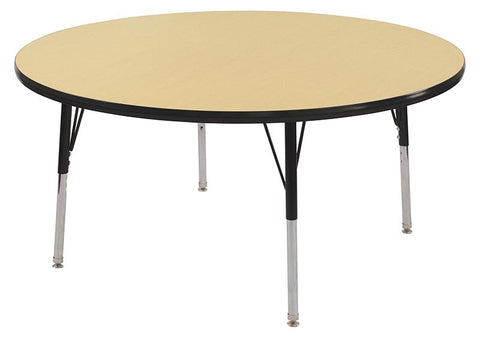 "ECR4Kids ELR-14114-MBBK-SS 36"" Round Table Maple/Black-Standard Swivel - Peazz.com"