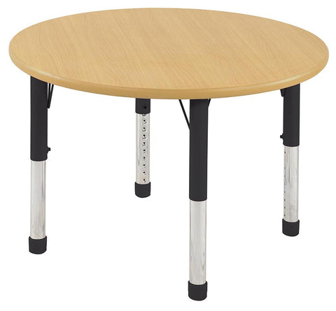 "ECR4Kids ELR-14114-MMBK-C 36"" Round Table MMBK-Chunky - Peazz.com"