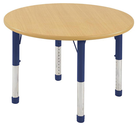 "ECR4Kids ELR-14114-MMBL-C 36"" Round Table Maple/Blue-Chunky - Peazz.com"