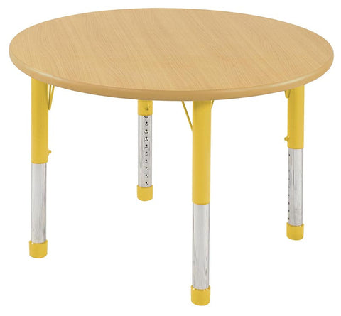 "ECR4Kids ELR-14114-MMYE-C 36"" Round Table Maple/Yellow-Chunky - Peazz.com"