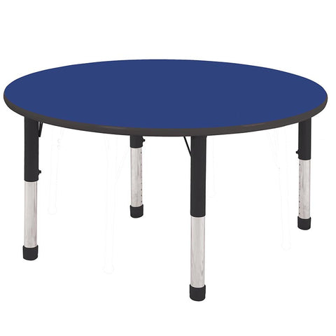 "ECR4Kids ELR-14115-BLBK-C 48"" Round Table Blue/Black-Chunky - Peazz.com"