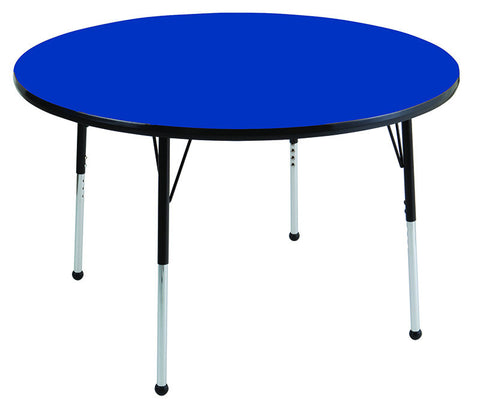 "ECR4Kids ELR-14115-BLBK-SB 48"" Round Table Blue/Black-Standard Ball - Peazz.com"