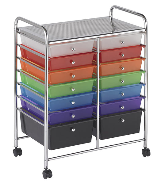 Ecr4kids Elr 20101 As 14 Drawer Mobile Organizer Assorted