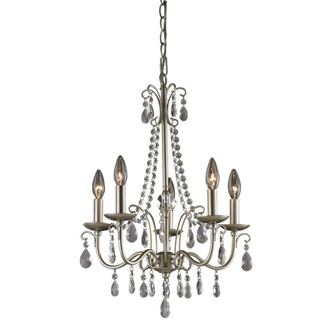 Sterling Industries 122-012 Antique Silver Chandelier In Silver / Clear - Peazz.com