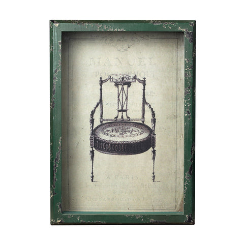 Sterling Industries 128-1027 Picture Frame With French Antique Chair Print - Peazz.com