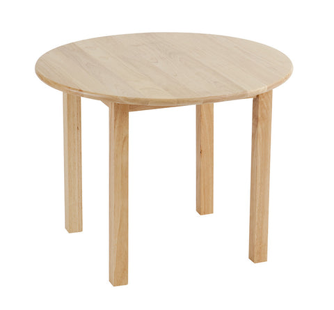 "ECR4Kids ELR-060 30"" Round Hardwood Table with 18"" Legs - Peazz.com"