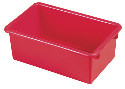 ECR4Kids ELR-0101-RD Stack & Store Tub without Lid - Red - Set of 15 - Peazz.com
