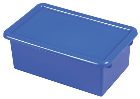 ECR4Kids ELR-0102-BL Stack & Store Tub with Lid - Blue - Set of 12 - Peazz.com