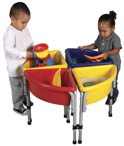 ECR4Kids ELR-0798 4 Station Round Sand & Water Table with Lids - Peazz.com
