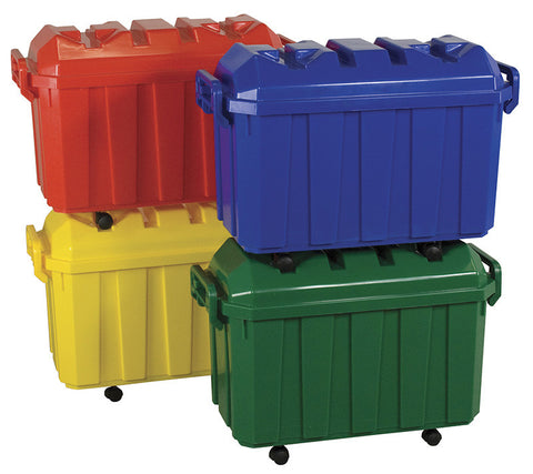 ECR4Kids ELR-0167 Stackable Storage Trunk - Assorted 4 Piece - Peazz.com