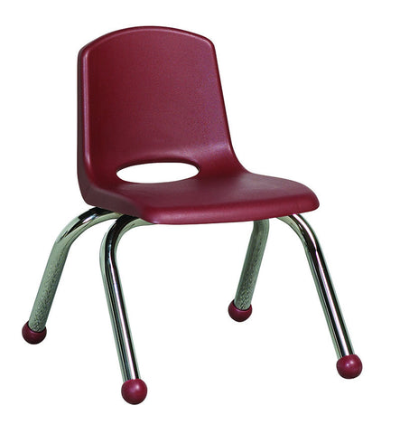 "ECR4Kids ELR-0192-BY 10"" Stack Chair - Chrome Legs - BY - Set of 6 - Peazz.com"
