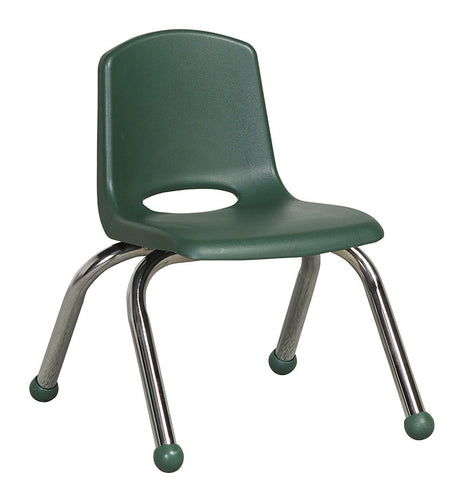 "ECR4Kids ELR-0192-HG 10"" Stack Chair - Chrome Legs - HG - Set of 6 - Peazz.com"