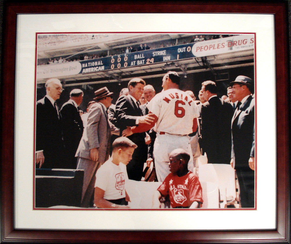 16-by-20-inch Framed Photo - St Louis Cardinals Stan Musial
