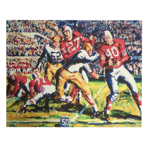Autographed Hop Cassady 24X30 Canvas Print (Coa: Sports Images) - Peazz.com