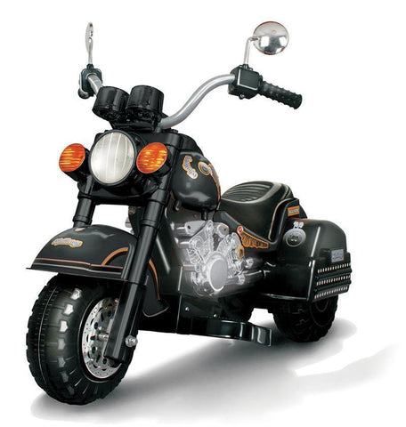 Vroom Rider AL-365-BLK Harley Style Chopper Style Limited Edition Motorcycle - Black - Peazz.com