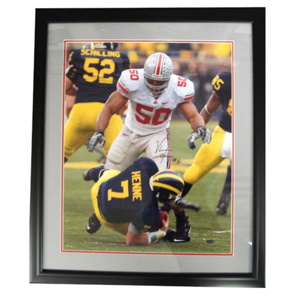 Autographed Vernon Gholston 16-By-20-Inch Framed Photo (Coa: Sports Images)