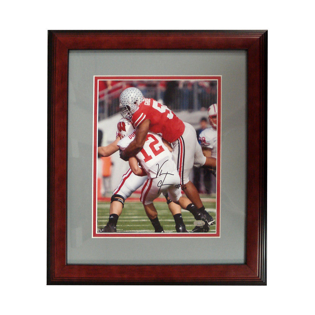 Autographed Vernon Gholston 8-By-10-Inch Framed Photo (Coa: Sports Images)