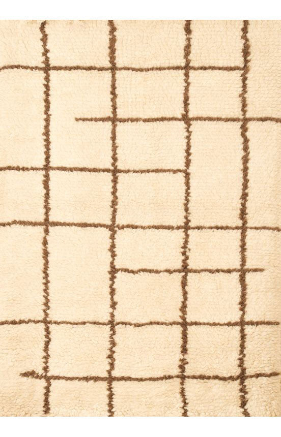 Abacasa 4901-5x8 Berber Off White/Chocolate Area Rug