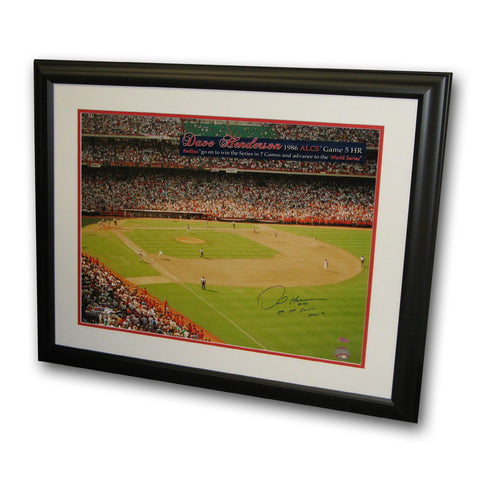 "Autographed Dave Henderson ALCS 16x20 Framed Inscribed "" HR off Donnie Moore"" - Peazz.com"