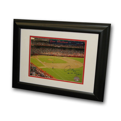 "Autographed Dave Henderson ALCS 8x10 Framed Inscribed "" HR off Donnie Moore"" - Peazz.com"
