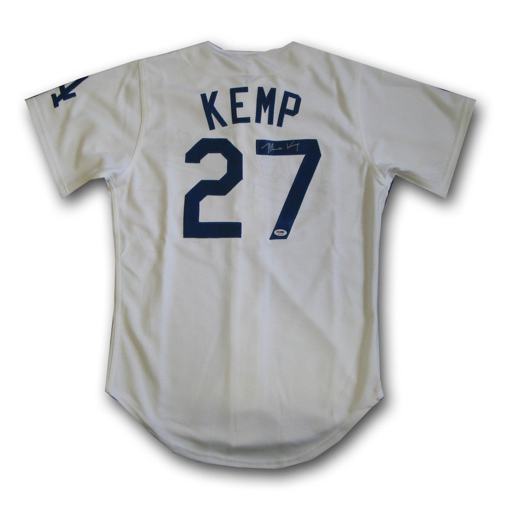Autographed Matt Kemp Home White Los Angeles Dodgers Jersey