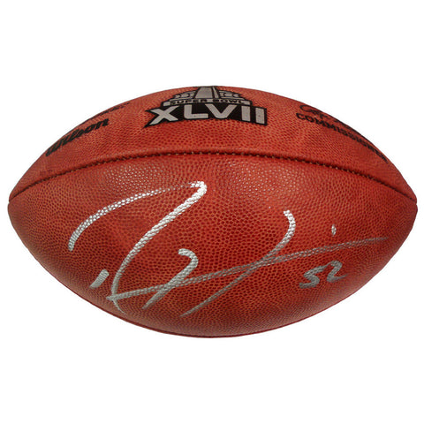 Baltimore Ravens Ray Lewis Superbowl 47 Football Autograph - Peazz.com