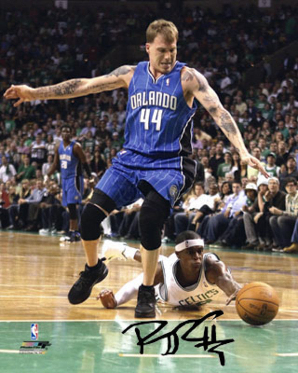 Autographed Rajon Rondo 8-By-10 Inch Unframed Photo (Coa: Sports Images)