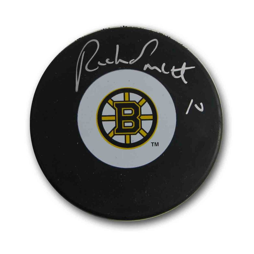 Autographed Rick Smith Boston Bruins Puck