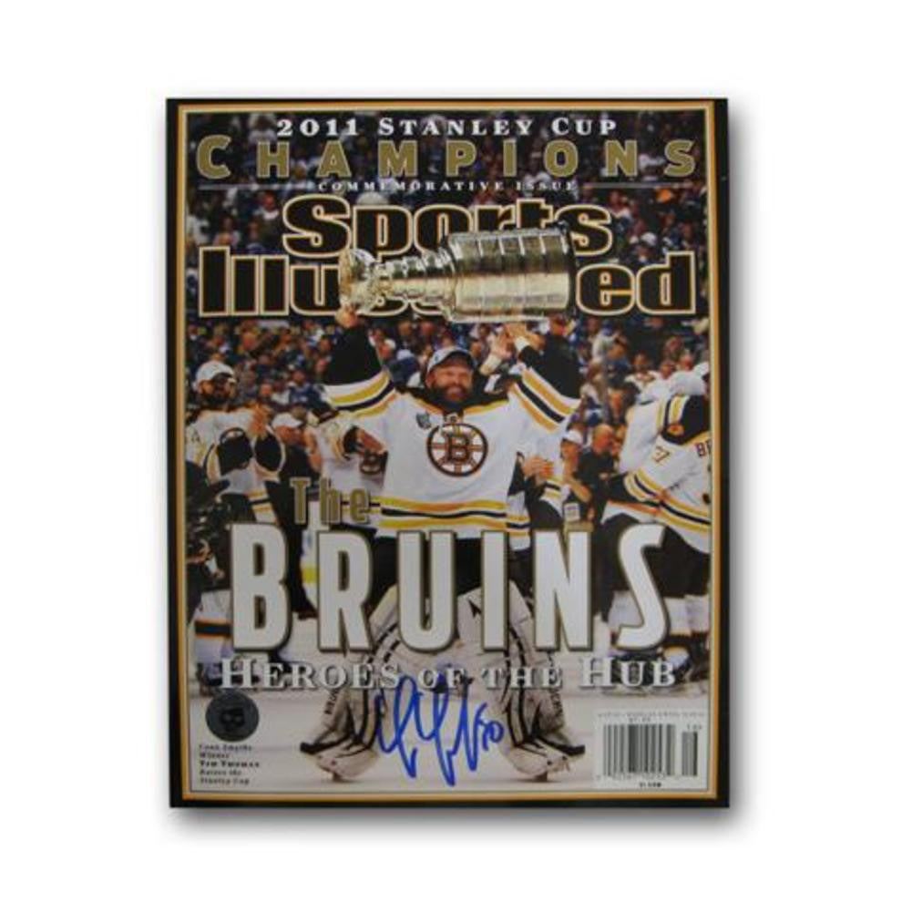 Autographed Tim Thomas 2011 Stanley Cup Champions Sports Illustrated