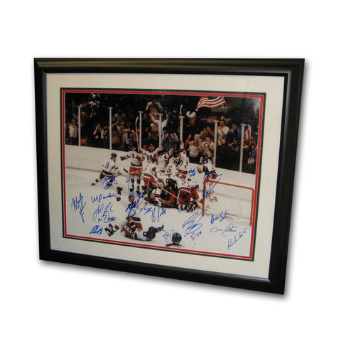 Autographed 1980 Usa Hockey Team 16 By 20 Inch Framed