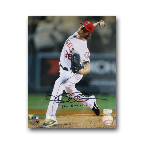"Autographed Jered Weaver 8X10 Inch Photo Inscribed ""No Hitter 5/2/12"" (MLB Authenticated) - Peazz.com"