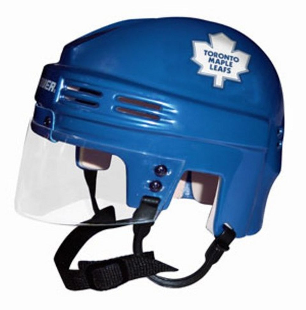 Official NHL Licensed Mini Player Helmets - Toronto Maple Leafs