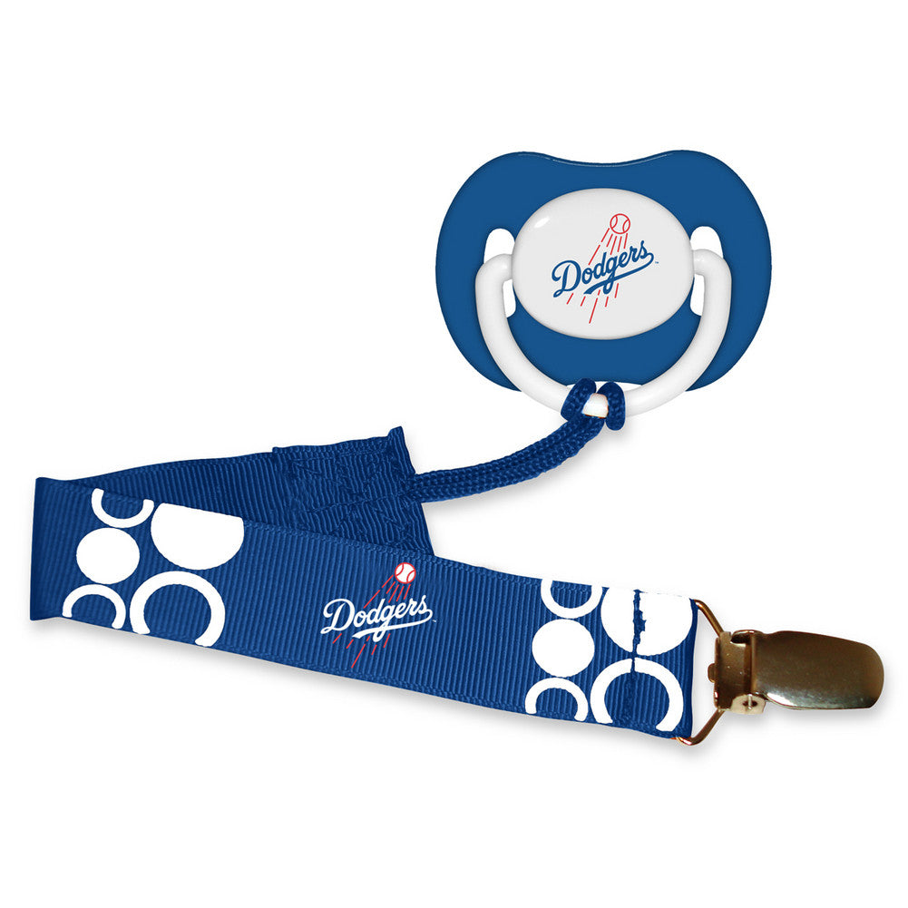 Pacifier With Clip - Los Angeles Dodgers